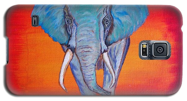 Galaxy S5 Case featuring the painting Elephant Matriarch by Ella Kaye Dickey
