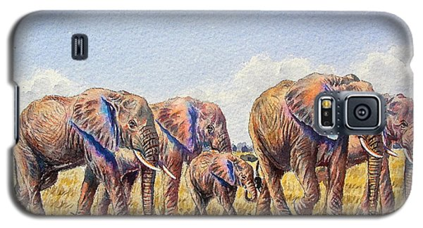 Elephants Walking Galaxy S5 Case