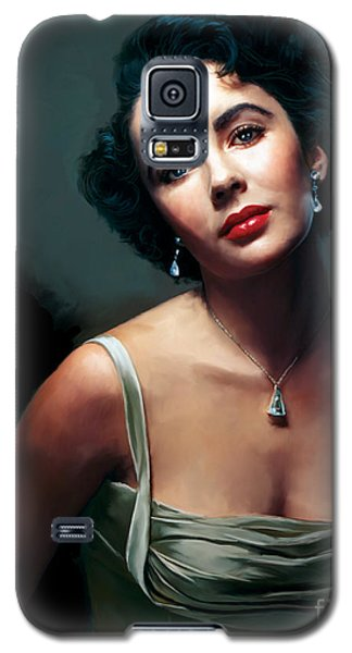 Elizabeth Taylor Galaxy S5 Case by Paul Tagliamonte