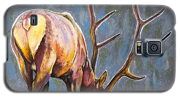 Galaxy S5 Case featuring the painting Elk by Aaron Spong