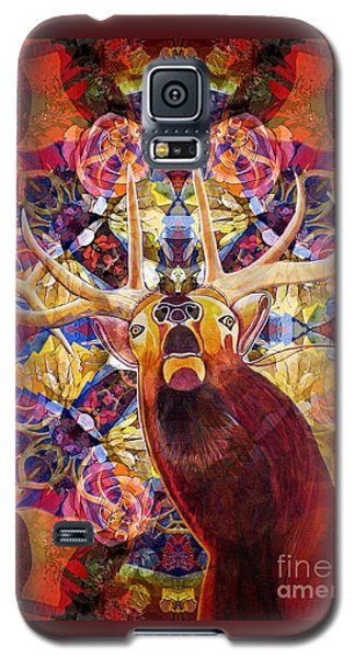 Galaxy S5 Case featuring the painting Elk Spirits In The Garden by Joseph J Stevens