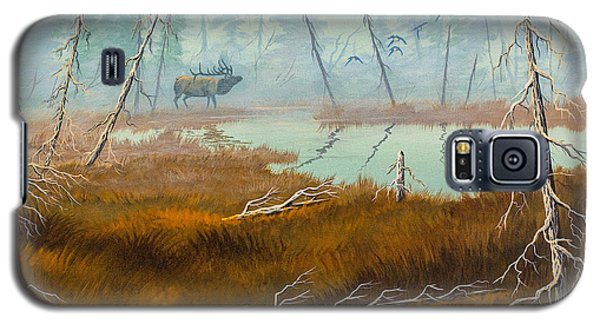 Galaxy S5 Case featuring the painting Elk Swamp by Richard Faulkner