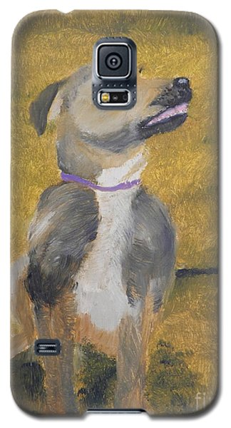 Galaxy S5 Case featuring the painting Ella by Pamela  Meredith
