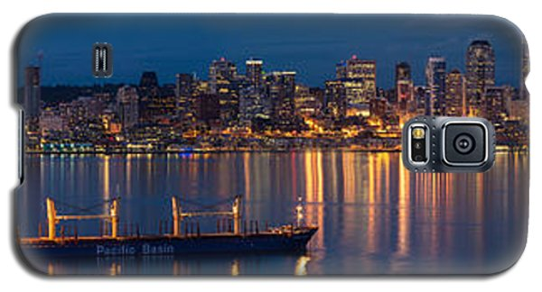 Elliott Bay Seattle Skyline Night Reflections  Galaxy S5 Case