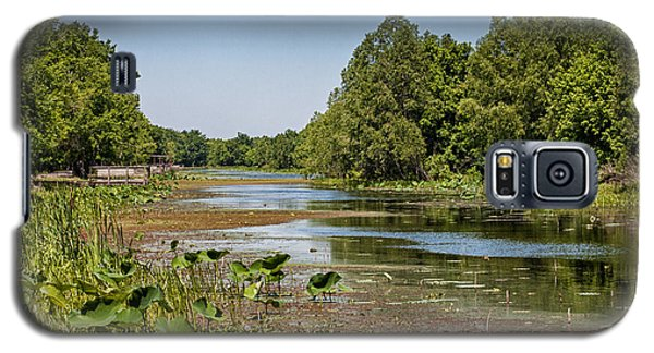 Galaxy S5 Case featuring the photograph Elm Lake At Brazos Bend In Texas by Zoe Ferrie