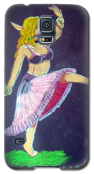 Galaxy S5 Case featuring the pastel Elven Belly Dancer by Wendy Coulson