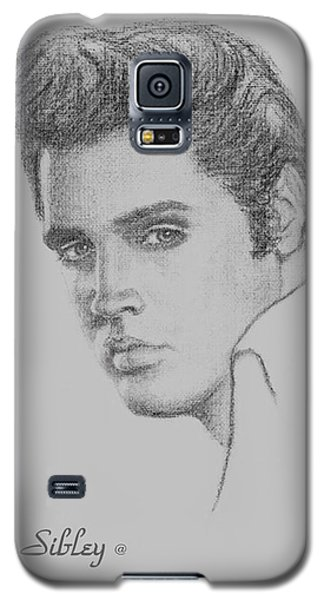 Elvis In Charcoal Galaxy S5 Case by Loxi Sibley