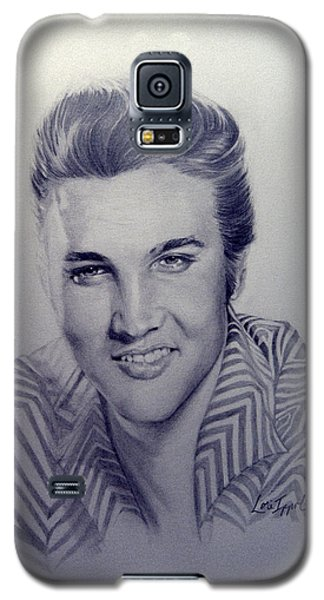 Galaxy S5 Case featuring the drawing Elvis by Lori Ippolito