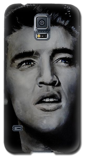 Galaxy S5 Case featuring the painting Elvis- Mississippi Trucker by Eric Dee