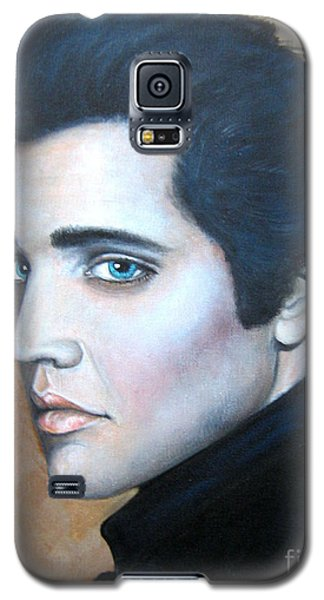 Galaxy S5 Case featuring the painting Elvis by Patrice Torrillo