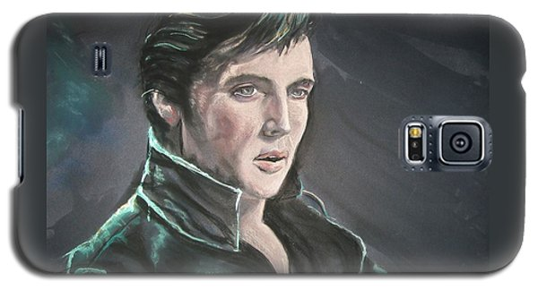 Galaxy S5 Case featuring the mixed media Elvis by Peter Suhocke