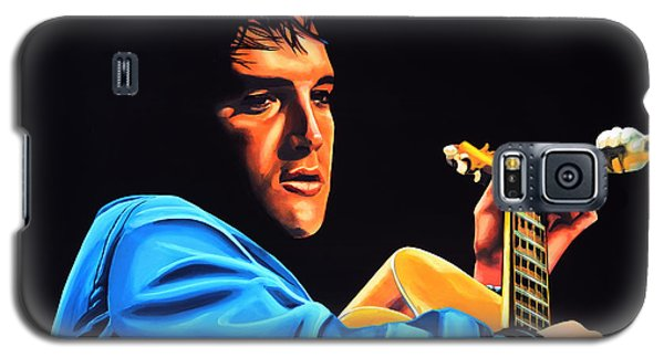 Rhythm And Blues Galaxy S5 Case - Elvis Presley 2 Painting by Paul Meijering