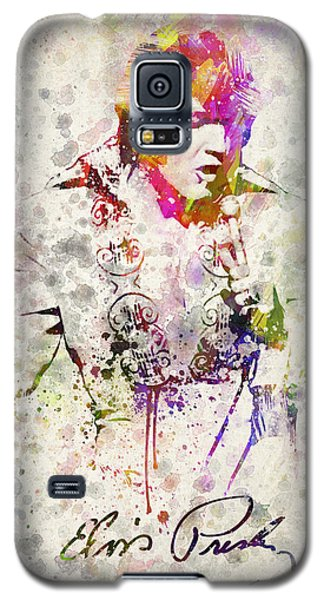 Rock And Roll Galaxy S5 Case - Elvis Presley by Aged Pixel