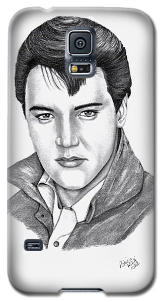 Galaxy S5 Case featuring the drawing Elvis Presley by Patricia Hiltz