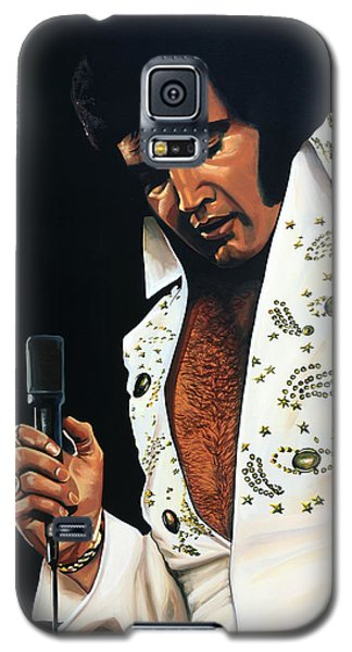Elvis Presley Painting Galaxy S5 Case by Paul Meijering