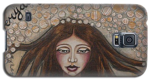 Embrace Everyday Adventure Inspirational Mixed Media Folk Art Galaxy S5 Case by Stanka Vukelic