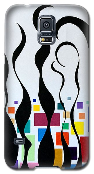 Galaxy S5 Case featuring the painting Embracing by Thomas Gronowski