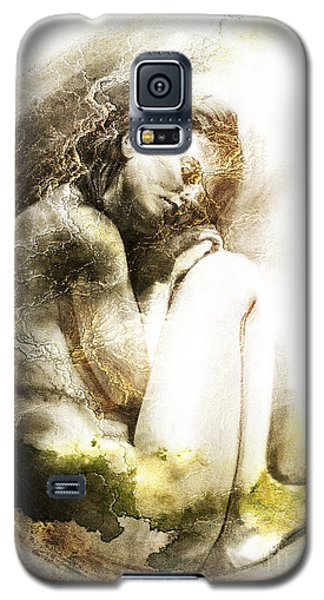 Galaxy S5 Case featuring the drawing Embryonic Drawing Textured by Paul Davenport