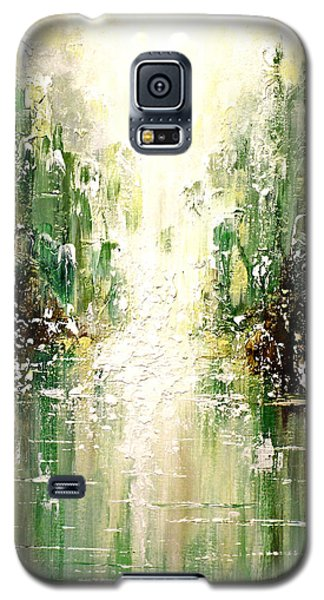 Galaxy S5 Case featuring the painting Emerald City Falls by Patricia Lintner