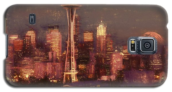 Galaxy S5 Case featuring the painting Emerald Twilight by Douglas MooreZart
