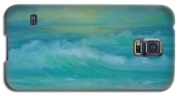 Galaxy S5 Case featuring the painting Emerald Waves by Holly Martinson