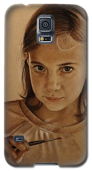 Galaxy S5 Case featuring the painting Emerging Young Artist by Glenn Beasley