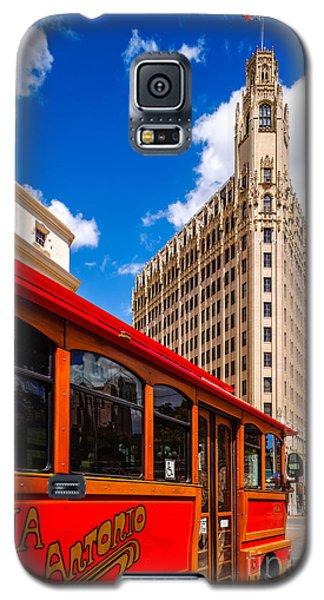 Emily Morgan Hotel And Red Streetcar - San Antonio Texas Galaxy S5 Case
