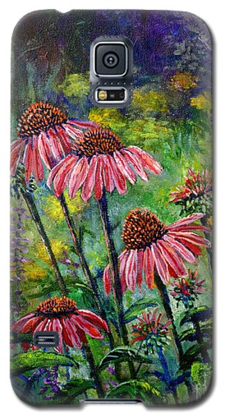 Galaxy S5 Case featuring the painting Emily's Flowers by Lou Ann Bagnall