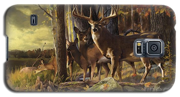 Galaxy S5 Case featuring the painting Eminence At The Forest Edge by Rob Corsetti