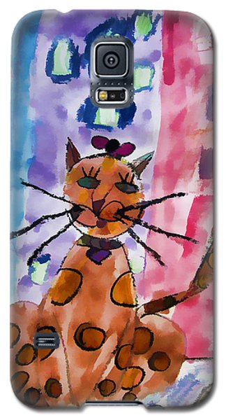 Emma's Spotted Kitty Galaxy S5 Case by Alice Gipson