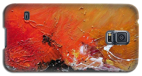 Galaxy S5 Case featuring the painting Emotion 2 by Ismeta Gruenwald