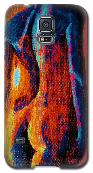 Galaxy S5 Case featuring the painting Emotive by Michael Cross