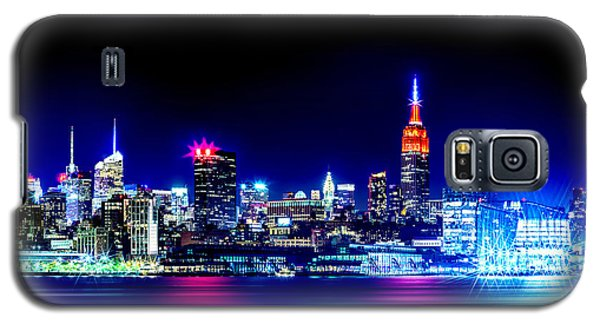 Empire State At Night Galaxy S5 Case by Az Jackson