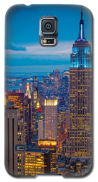 Architecture Galaxy S5 Case - Empire State Blue Night by Inge Johnsson