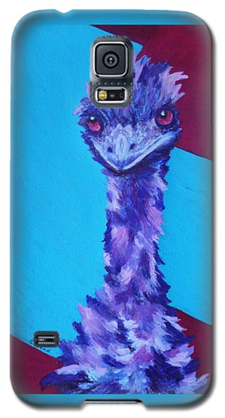 Galaxy S5 Case featuring the painting Emu Eyes by Margaret Saheed