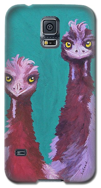 Galaxy S5 Case featuring the painting Emu Watch by Margaret Saheed