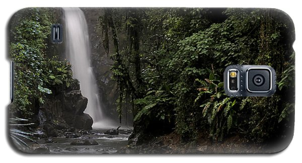 Galaxy S5 Case featuring the photograph Encantada Waterfall Costa Rica by Teresa Zieba