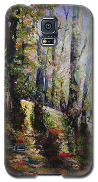 Galaxy S5 Case featuring the painting Enchanted Forest by Sher Nasser