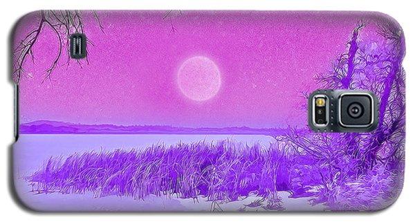 Rosy Hued Moonlit Lake - Boulder County Colorado Galaxy S5 Case by Joel Bruce Wallach