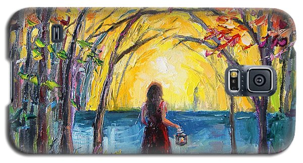 Galaxy S5 Case featuring the painting Enchanted by Jennifer Beaudet