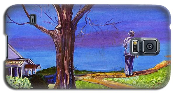 Galaxy S5 Case featuring the painting End Of Day Highway 98 by Ecinja Art Works