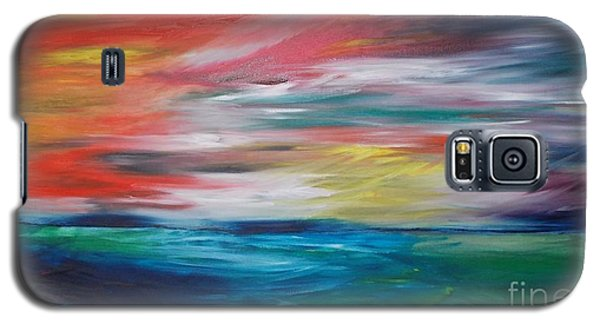 Galaxy S5 Case featuring the painting End Of Day by PainterArtist FIN