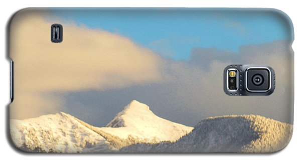 Galaxy S5 Case featuring the photograph End Of February Snow On Sheep's Head Peak by Anastasia Savage Ealy