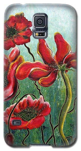 Endless Poppy Love Galaxy S5 Case by Jolanta Anna Karolska
