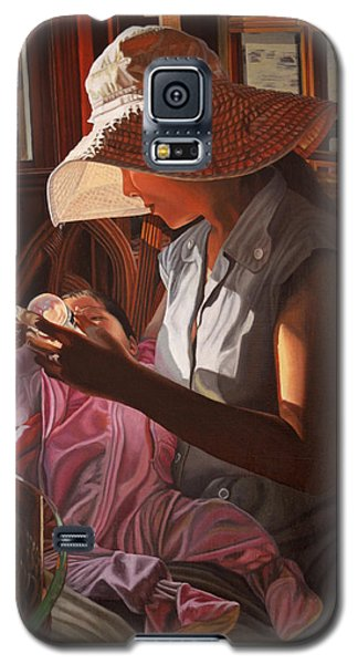 Galaxy S5 Case featuring the painting Enfamil At Ha Long Bay Vietnam by Thu Nguyen