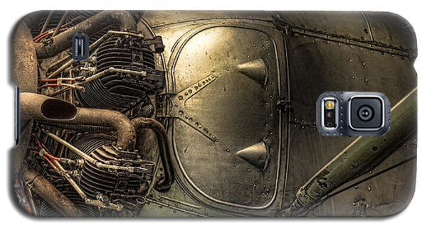 Radial Engine And Fuselage Detail - Radial Engine Aluminum Fuselage Vintage Aircraft Galaxy S5 Case