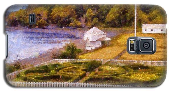 Galaxy S5 Case featuring the digital art English Camp San Juan Island by Kaylee Mason