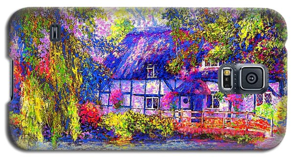 Swan Galaxy S5 Case - English Cottage by Jane Small
