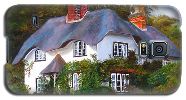 Galaxy S5 Case featuring the painting English Cottage by LaVonne Hand
