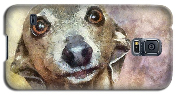 Galaxy S5 Case featuring the painting English Hound Hunting Dog by Georgi Dimitrov